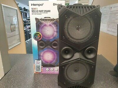 (Pa2) Intempo WDS140 LED Light Bluetooth Party Speaker - New Sealed