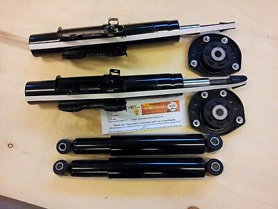 VW CRAFTER FULL SET OF 4 SHOCK ABSORBERS + 2 X FRONT TOP STRUT MOUNTS 2006-2017