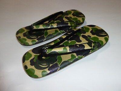 16536 bape abc japanese sandals green L US9 - 10.5