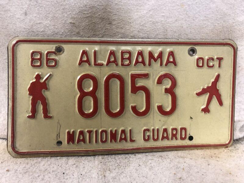 1986 Alabama National Guard License Plate