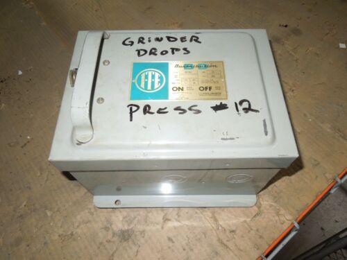 Ite Bp351 30a 3ph 3w 600v Fusible Cover Operated Bus Plug Used E-ok