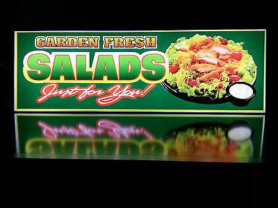 Business Led Lighted Box Sign Garden Fresh Salads