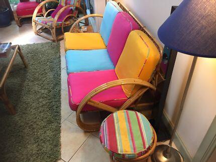 Retro cane furniture