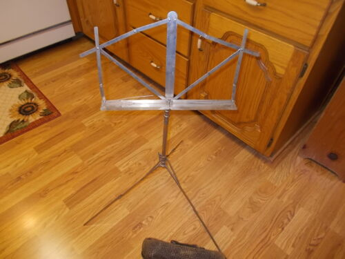 Antique Lone Star Music Stand with Leather Case