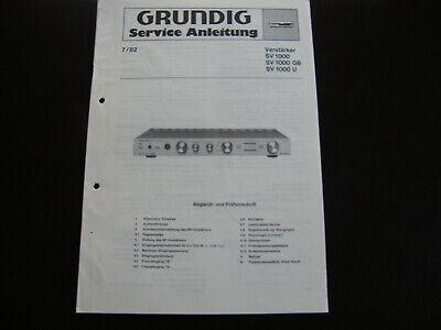 Tv, Video & Audio Service Manual-anleitung Für Grundig V 2,original