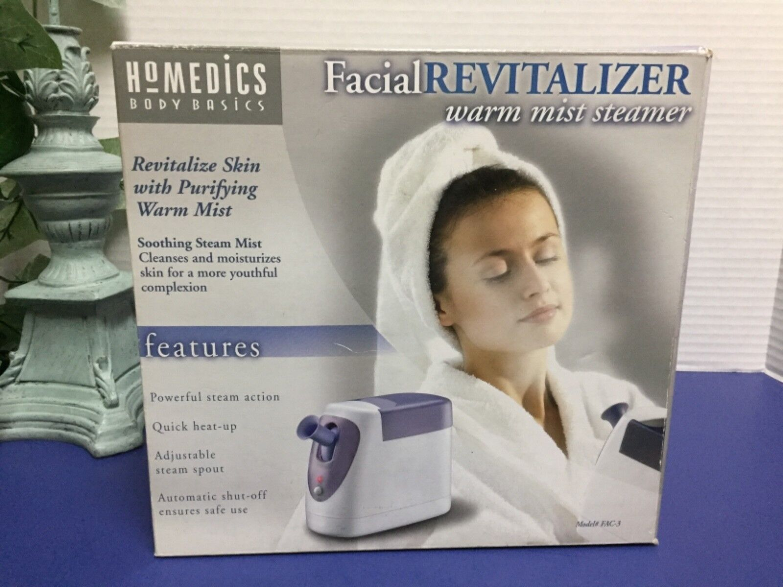 HoMedics Facial Revitalizer Warm Mist Steamer Spa Womens Cle