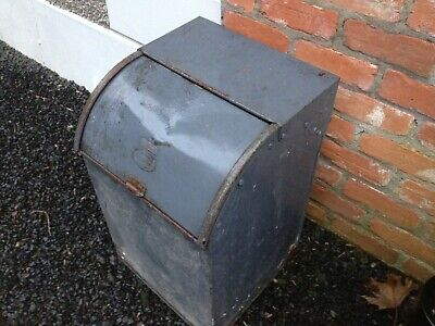 Original Victorian metal food bin.