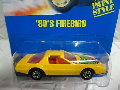 Hot Wheels #23 Yellow 80's Firebird w/Blackwall Wheels & Yellow Tail Lights
