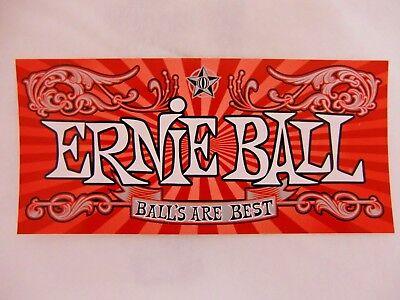 ERNIE BALL GUITAR BASS STRINGS BALLS ARE BEST CASE RACK BUMPER STICKER DECAL
