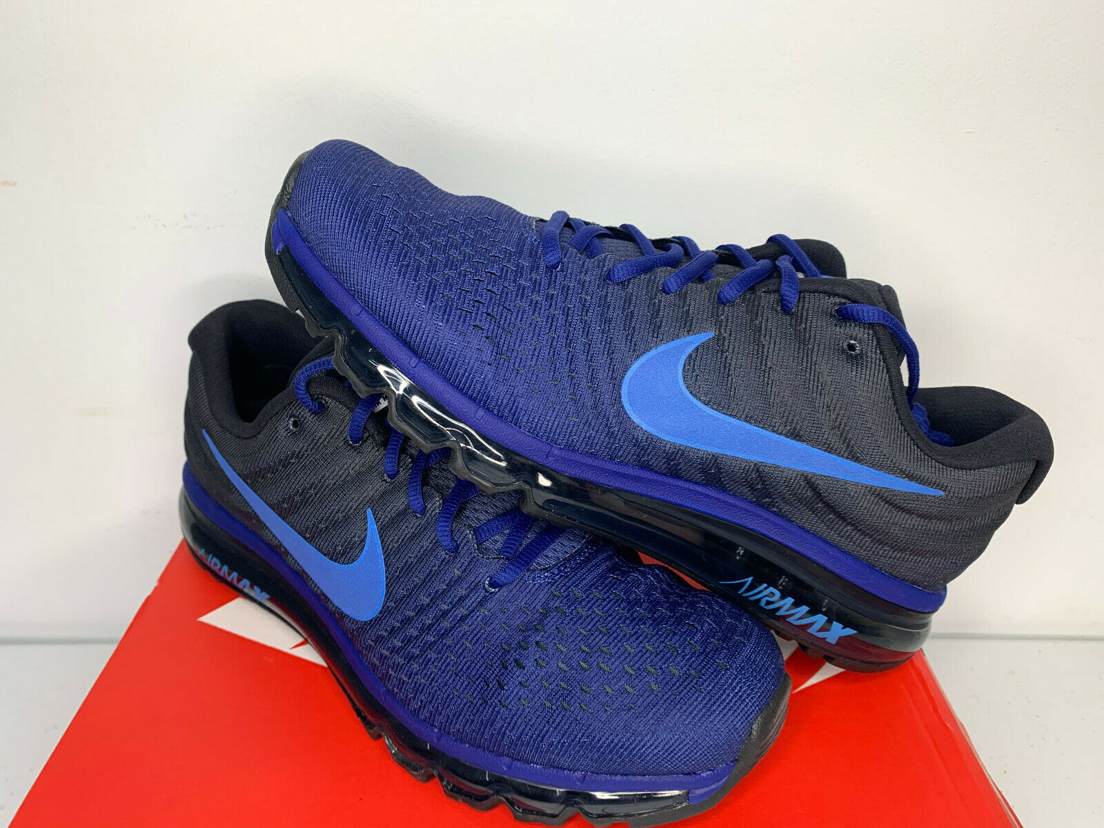NIB Size 8-13 Nike Air Max 2017 Blue Hyper Cobalt Running Shoes Training TR  NEW