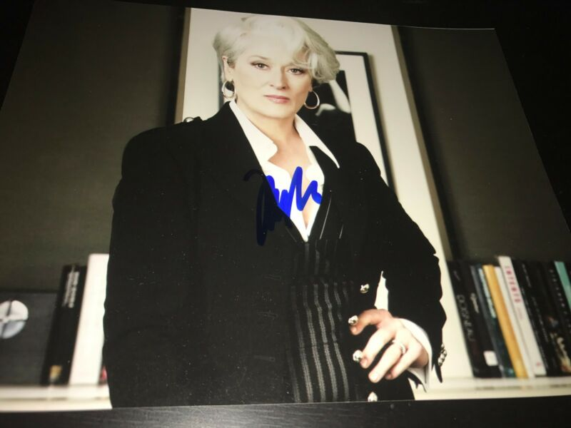 MERYL STREEP SIGNED AUTOGRAPH 8x10 PHOTO THE DEVIL WEARS PRADA IN PERSON COA X1