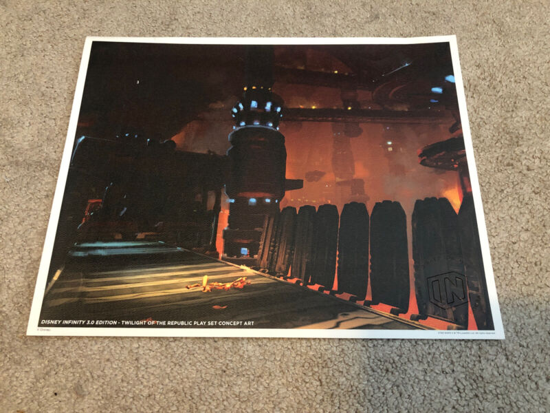 Disney Infinity 3.0 Star Wars Concept Art Lithograph 14x11 SDCC Comic-Con Poster