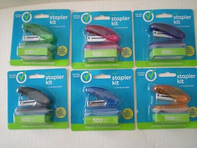 Simply Done Mini Stapler Kit With Built In Staple Remover 500 Staples Lot Of 6