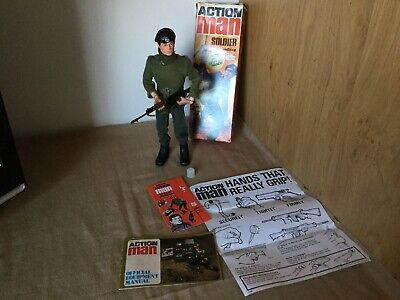 Vintage Action Man Boxed Soldier & Paperwork, Etc.Mid 70's