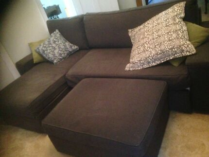 Sofa bed with matching storage ottoman
