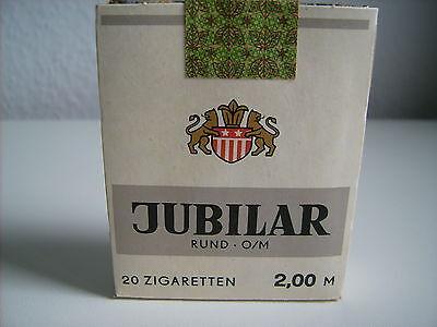 Alte volle 20er Zigaretten-Schachtel Packung Jubilar DDR 1989 Tabak VEB Dresden