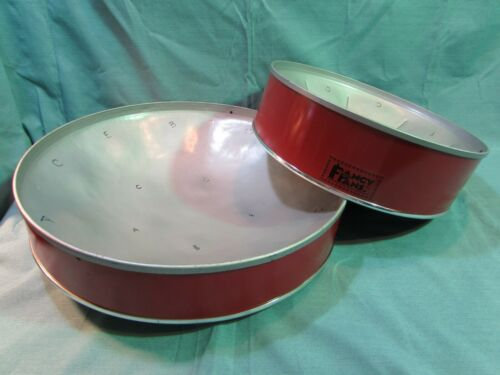 "Set of 2 Fancy Pans Steel Drums 14"" & 18"""