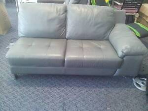 Grey leather 2 seater PART St Marys Penrith Area Preview
