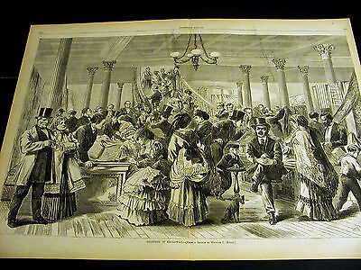 Costume Shops Nyc (Myers Victorian Men & Women SHOPPING on BROADWAY NYC 1870 Large Folio Print)