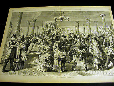 Myers Victorian Men & Women SHOPPING on BROADWAY NYC 1870 Large Folio Print  - Costume Shops Nyc
