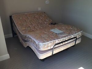 Electric remote controlled double bed (with box and mattress)