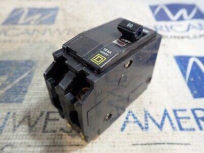 1 New Square D Qo250 2 Pole 50 Amp Plug In Qo 120240v Circuit Breaker