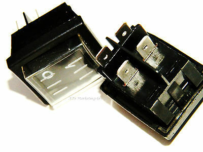 Carpet Cleaning - DPST Rocker Switches W/Splash proof cap (Set of 2)