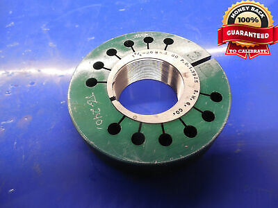 1 58 20 N 3 Thread Ring Gage 1.625 Go Only P.d. 1.5925 N-2 N-3 Inspection