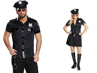 Polizeikostüm Damen Herren schwarz Police Polizist Kleid o. - Polizei Kostüme Damen