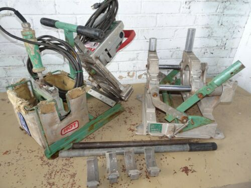 MCELROY PITBULL 14 FUSION MACHINE W dies 2-4in HEATER & FACER poly pipe tool