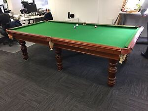 Large Pool / Snooker / Billiards slate table 10 foot x 5 foot Chatswood Willoughby Area Preview