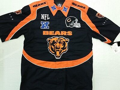 NFL Chicago Bears Nascar - Bowling Style End Zone Shirt (Small) New Chicago Bears Nfl End