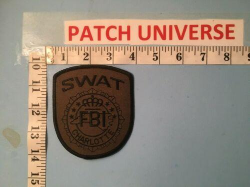 CHARLOTTE NC SWAT  SHOULDER PATCH  NO67