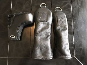Leather golf headcovers - hybrid, fairway and putter