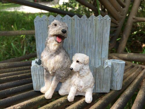 VTG Irish Wolfhound West Highland White Terrier Dog Magnetic Letter Pen Holder
