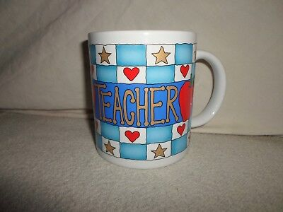 New ! Great *Teacher Gift* Coffee Mug Tea Cup Glass Special Excellent Apple Star