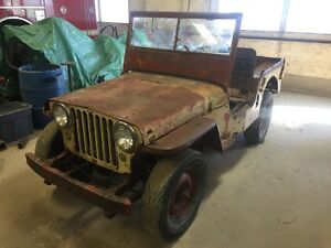 1947 Willys CJ 2A, running and drivable