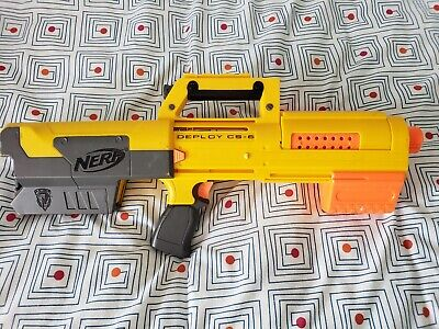 Nerf N-Strike Yellow Deploy CS-6 Blaster Dart Gun w/ Clip Magazine Tested