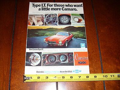 1973 CAMARO TYPE LT - ORIGINAL VINTAGE AD