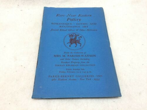 Near East Pottery ++ 1954 Parke-Bernet Auction Catalog~Mrs. M. Parish-Watson