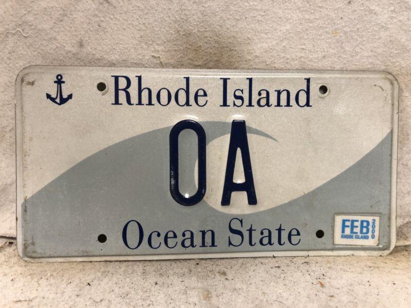 "2000 Rhode Island Vanity License Plate ""OA"""