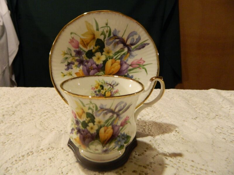 Queens Staffordshire Teacup and Saucer                                       1-2