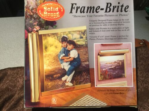 """New Solid Brass Wall Light Picture Frame """"Frame Brite"""""""