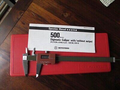 Mitutoyo 8digital Caliper 500-116 Cd 8