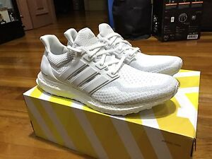 ADIDAS ULTRA BOOST TRIPLE WHITE SHOES SIZE US11.5 BRAND NEW NMD YEEZY Burwood Burwood Area Preview