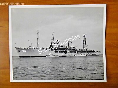 Official Us Navy Surveying  Minesweeper Ship Photo 8X10 Ags 16 Uss Maury