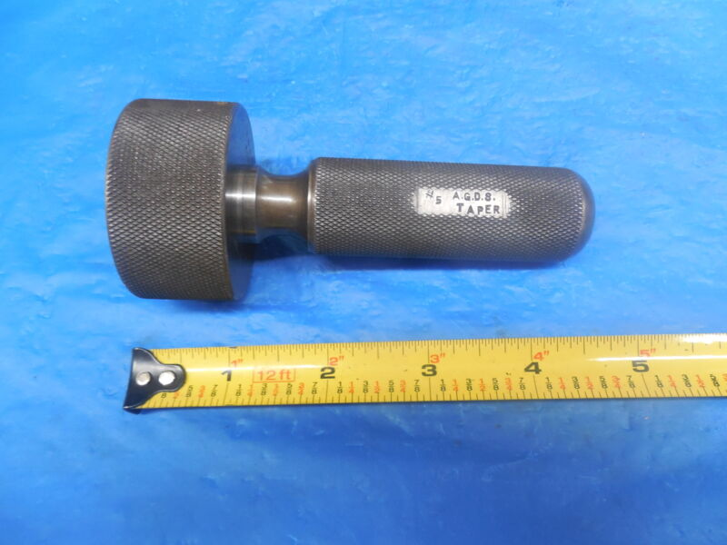 A.G.D.S. NUMBER 5 TAPER GAGE #5 NO. 5 MACHINE SHOP QUALITY INSPECTION TOOLING