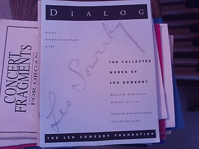 Leo Sowerby: Dialog for organ & piano (Sowerby Foundation)