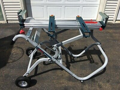 Local Pick Up Bosch T4B Portable Folding Gravity Rise Miter Saw Stand w/ Wheels