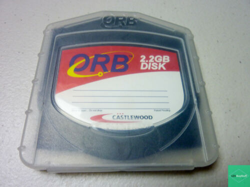 ORB 2.2 GB DISK By Castlewood in Plastic Case